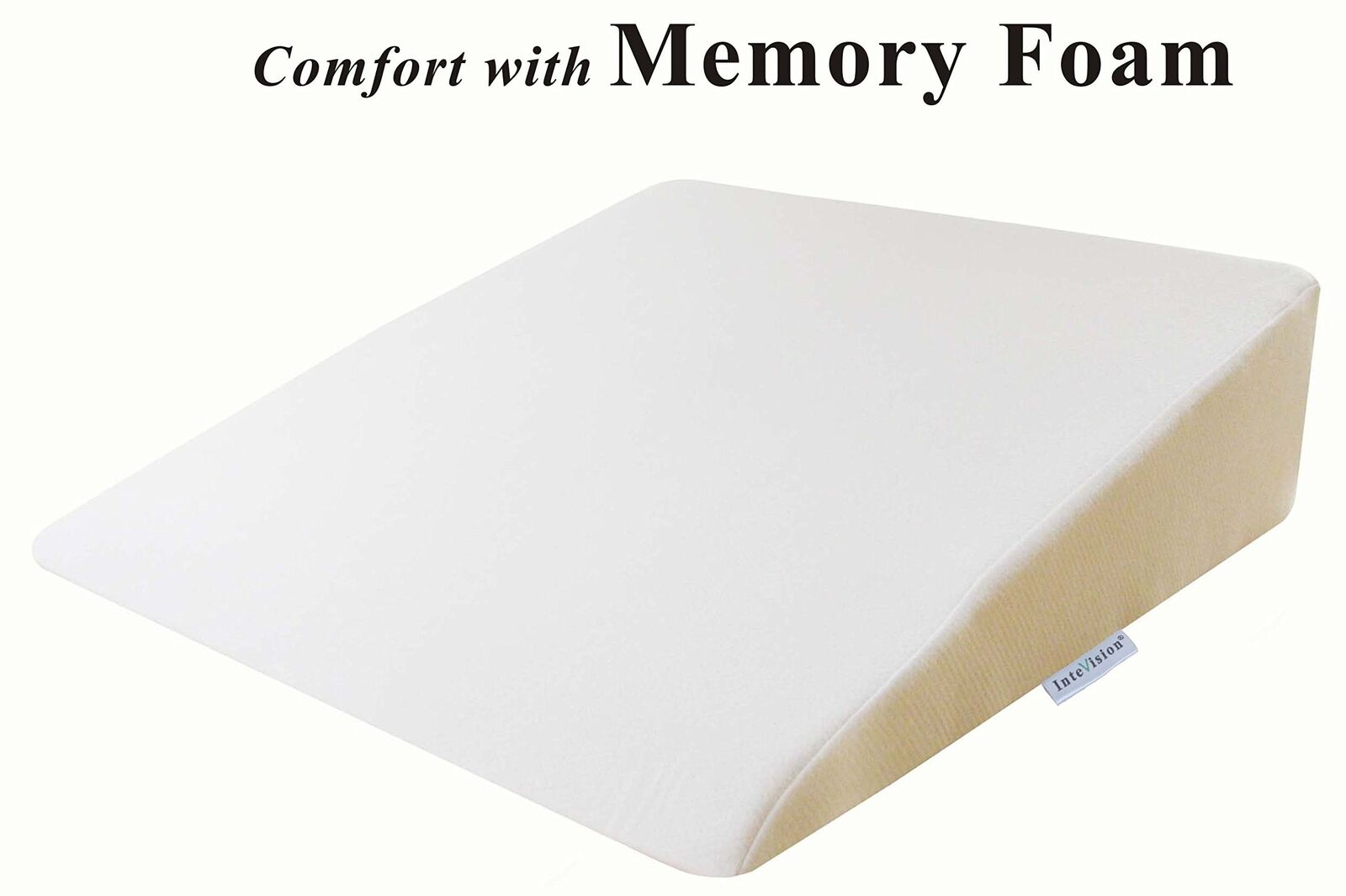 InteVision Foam Wedge Bed Pillow (26  x 25  x 7.5 ) with High Quality, Removable