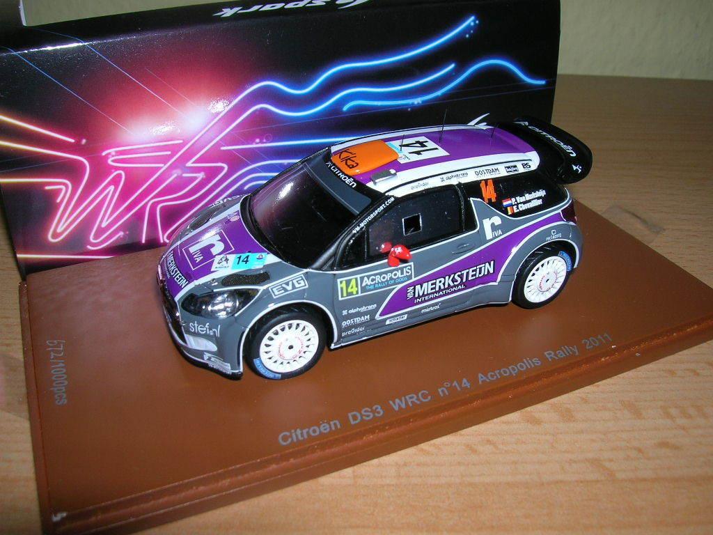 Spark Citroen DS3 WRC ACROPOLIS RALLY 2011 Merksteijn Chevaillier, 1 43