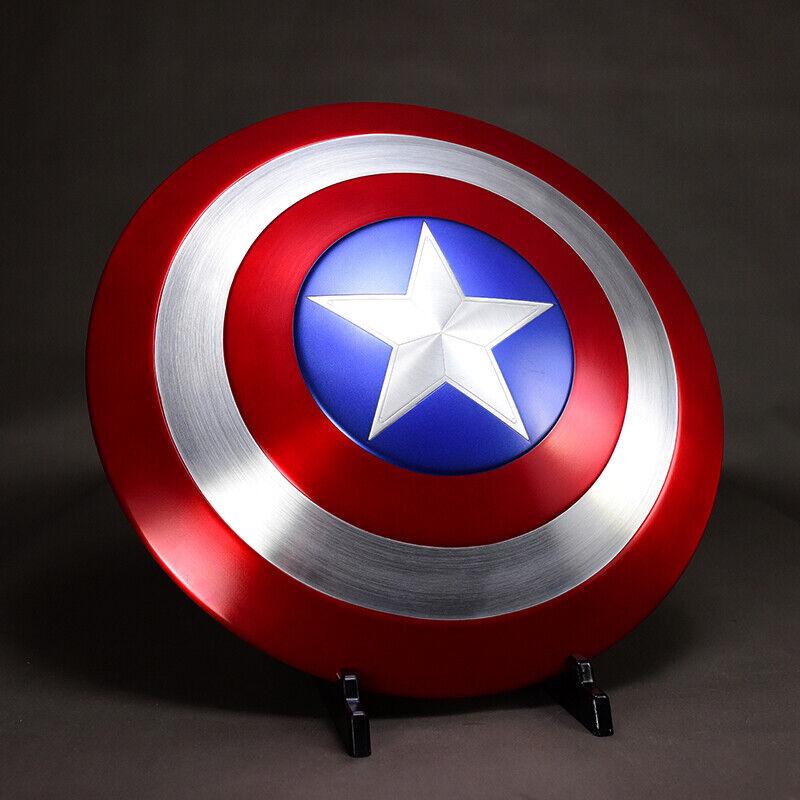 1 1 Vengadores Capitán América Escudo Aleación Metal Ver. CosJugar para mostrar Prop