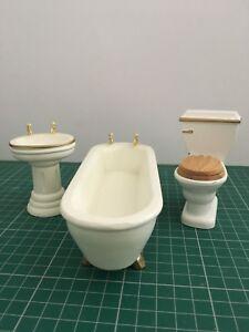 Maison De Poupées Salle De Bains Miniature Meubles échelle 1/12th-afficher Le Titre D'origine