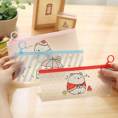 Cartoon Rabbit Student Pencil Pen Case Box Makeup Pouch Pocket Brush Holder Bag