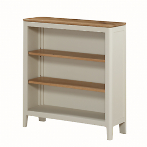 Image Is Loading Modern White Small Bookcase Painted Oak