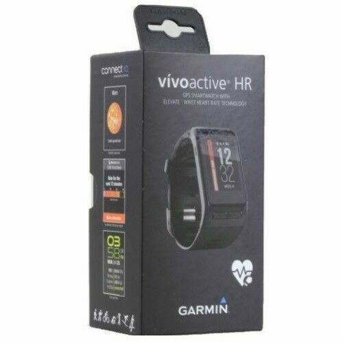Regular Size Garmin Vivoactive HR GPS Smartwatch Heart Rate Monitor Black