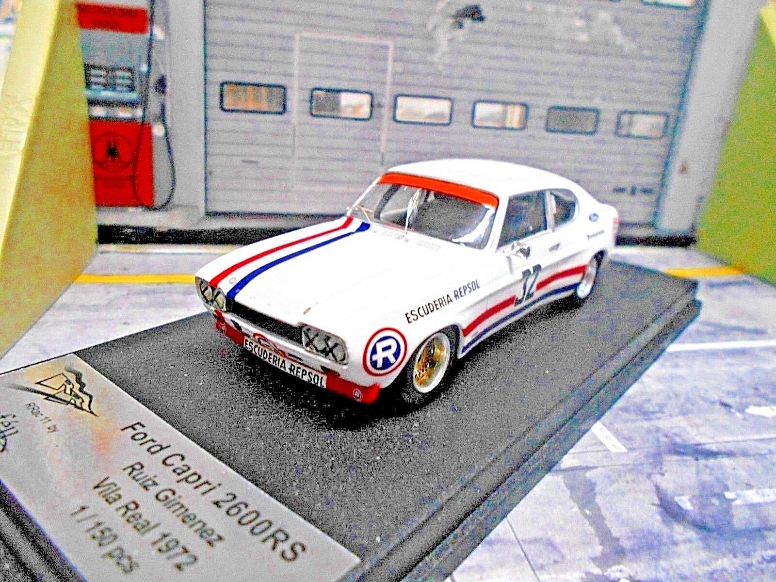 Ford Capri RS 2600 Rallye Race villa real Gimenez repsol 1972 Trofeu 1 43