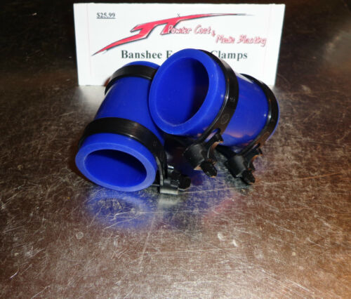 Factory Yamaha Banshee exhaust pipe clamps all years fmf,dg BLUE