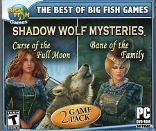 Shadow Wolf Mysteries CURSE OF THE FULL MOON Hidden Object 2 PACK PC Game NEW