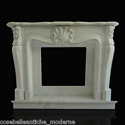 Motivata Camino Marmo Bianco Carrara Stile Luigi Xv Classic Stone White Marble Fireplace Acquista Ora