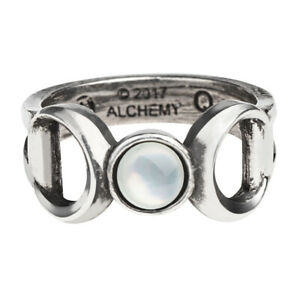 Alchemy-of-England-Gothic-Triple-Goddess-Crescent-Moon-Occult-Pearl-Ring-R219