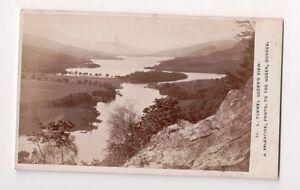 Vintage-CDV-Loch-Tummel-Queen-039-s-View-Perth-Scotland-J-Valentine-Photo-Dundee