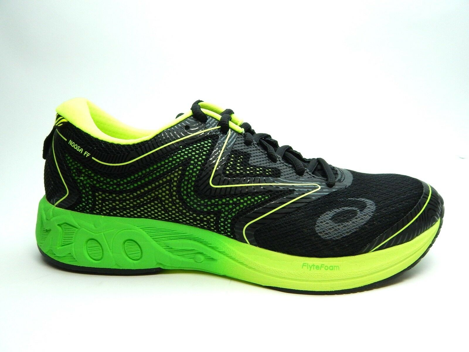 ASICS NOOSA FF T722N 9085 BLACK GREEN GECKO SAFETY YELLOW MEN SHOES SIZE 9 TO 13