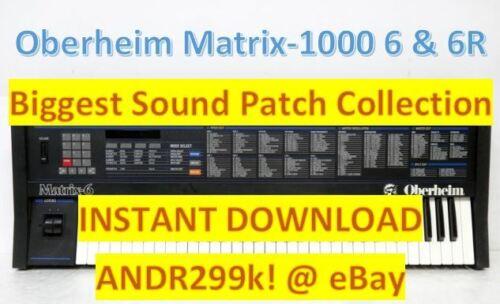 Syx /& .Mid Oberheim Matrix-1000 Matrix 6 6R Biggest Sound Patch collection