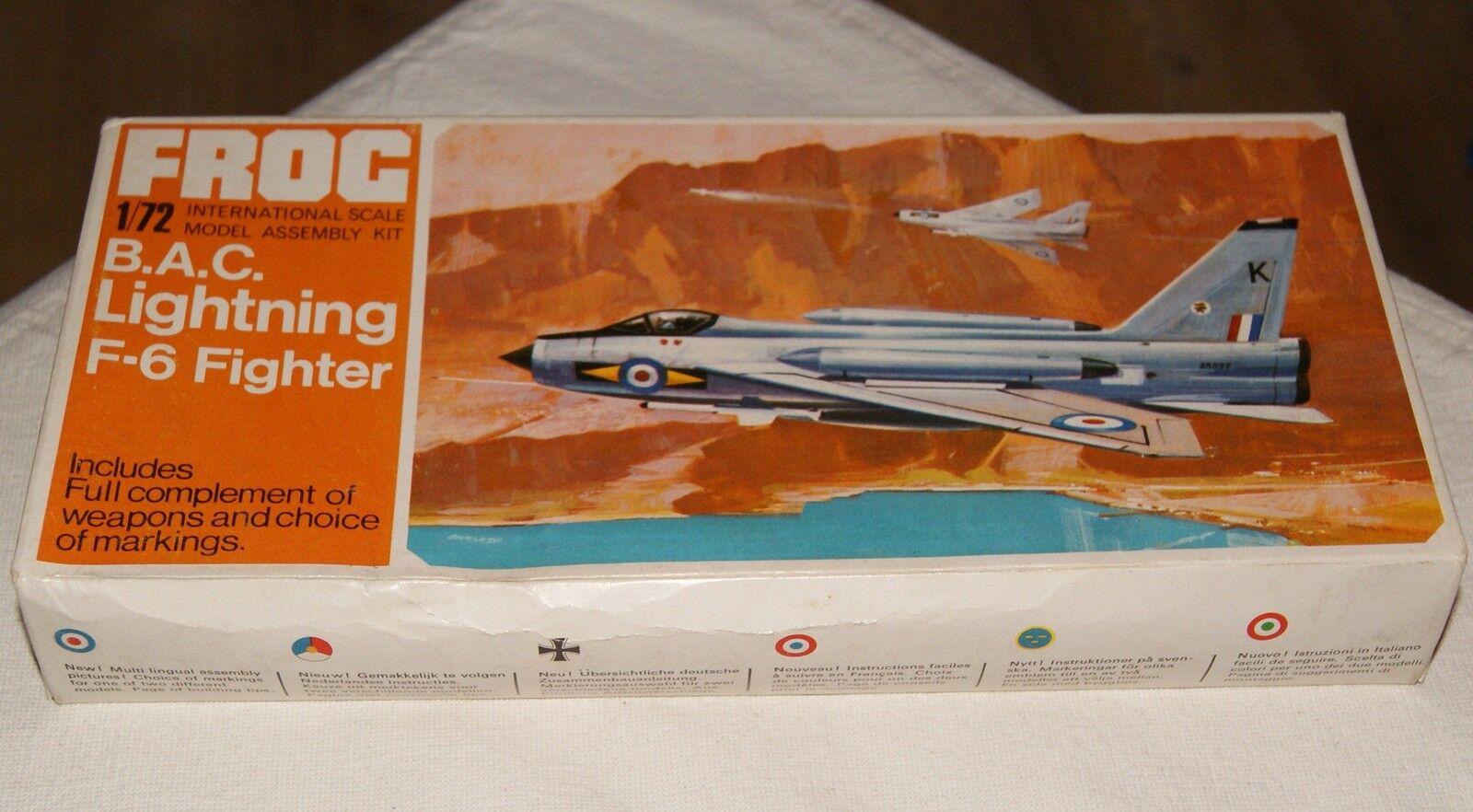 FROG Modell 1 72 B.A.C. Lightning F-6 Fighter VINTAGE 60s 70s