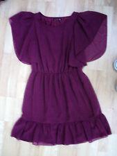 LADIES primark 14 BURGUNDY VINTAGE LOOK MINI DRESS TUNIC VGC FREE UK POST