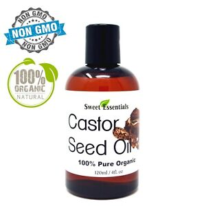 Organic-Castor-Seed-Oil-4oz-Imported-From-India-100-Pure-Cold-Pressed