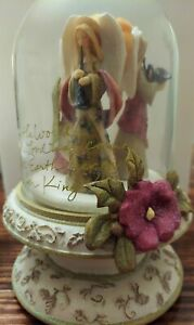 Karen Hahn Foundations THREE ANGELS Resin Rotating Musical Figurine 4002827