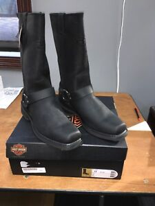 New-Harley-Davidson-Men-s-Wide-Bowden-Boots-D93477-Size-12-Wide