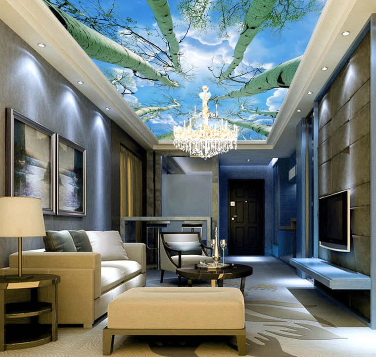 3D Trunk 41 Ceiling WallPaper Murals Wall Print Decal AJ WALLPAPER US