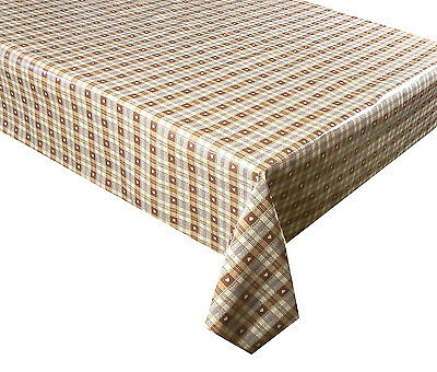 GINGHAM  CHECK BLACK VINYL OILCLOTH PVC WIPE CLEAN TABLECLOTH CO click for sizes