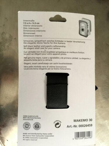 Samsonite estuche Makemo 30 bolsa de piel-negro Artículo nuevo-CCS dd