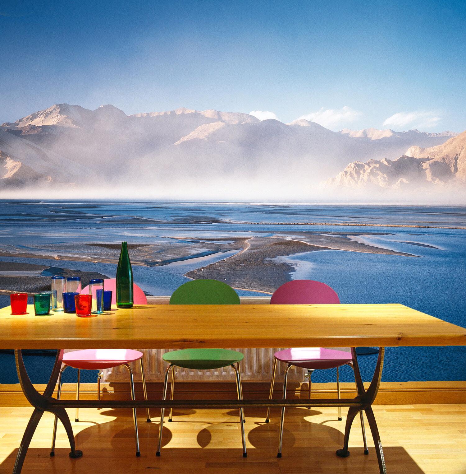 3D Mare, Montagna Parete Murale Foto Carta da parati immagine sfondo muro stampa