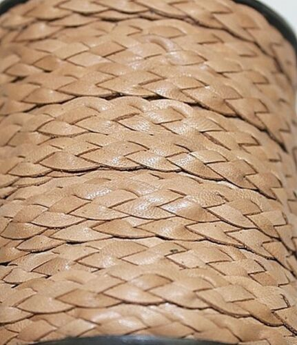 High Quality *Genuine Leather Braided Multi Colors Option of 1 to 25 Yards