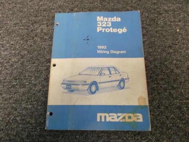 1992 Mazda Protege Original Electrical Wiring Diagram