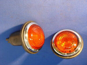 CLASSIC NEW COBRA AMBER FRONT INDICATOR TURN SIGNAL USA LAMPS