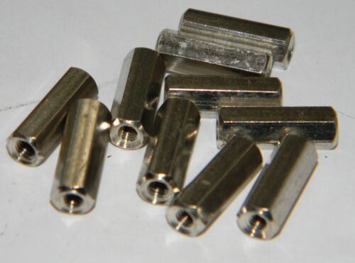 10 pezzi Torretta esagonale in ottone H 15 mm filettatura 3 mm f//f  conf