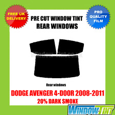 DODGE AVENGER 4-DOOR 2008-2011 20% DARK REAR PRE CUT WINDOW TINT
