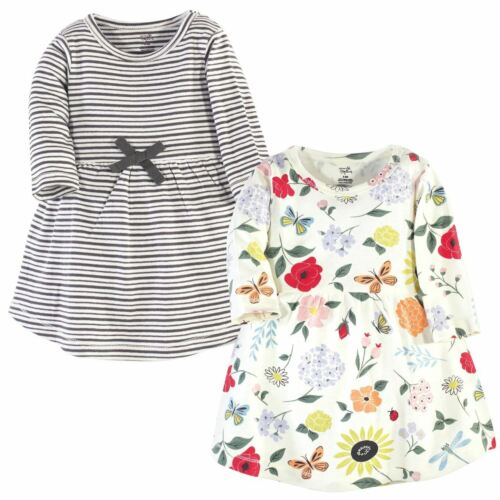 Flutter Garden Long Sleev Touched By Nature Girl Toddler Organic Cotton Dresses