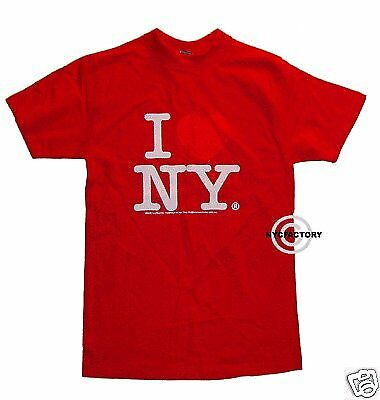 100/% Cotton I Heart Love NY RED Womens Shirt Small S