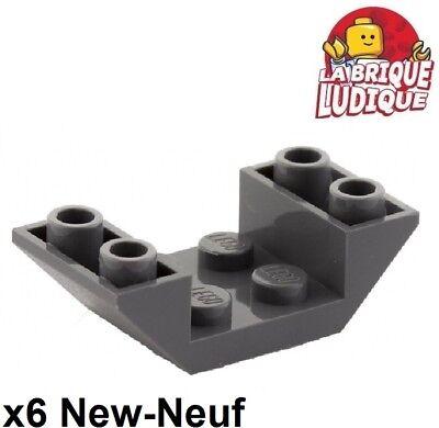 6x slope inverted pente inversée 45 2x1 rouge//red 3665 NEUF Lego