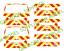 00 1:76 Waterslide Transfers VW T5 Code 3 Rear Chevrons Kit