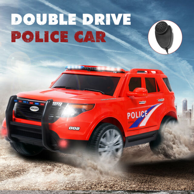 Police Cars For Sale >> 12v Kids Ride On Cars Electric Double Drive Police Car W Rc Music Playback Red