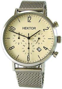 HEKTOR-design-Chronograph-elegante-Quarz-Herrenuhr-Datum-Milanaise-Band-42mm