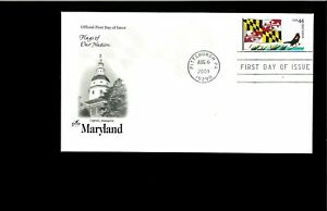 2009-FDC-Maryland-State-Flag-Pittsburgh-PA