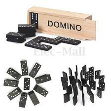 28pcs Dominoes Set Wooden Box Traditional Board Travel Domino Game Toy Kid Gifts