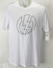 NEW Electric Volt Line White Mens XL Snow Skate Cotton Tee Shirt Msrp$22