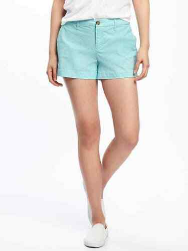 Women/'s Old Navy Khaki BLUE Mid Rise Shorts CLEAR DAY Size 0 2 4 10 12 16 ~NEW~