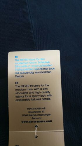 """MEYER RIO TROUSERS IN MID BLUE 42/""""44/""""46/""""48/""""50/""""52/"""""""