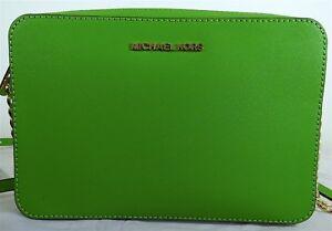 b7d72f00d54e Michael Michael Kors Jet Set Travel Large EW Jungle Green Leather ...