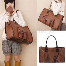 Women Large Leather Handbag Shoulder Travel Satchel Lady Shopping Tote Bag Purse