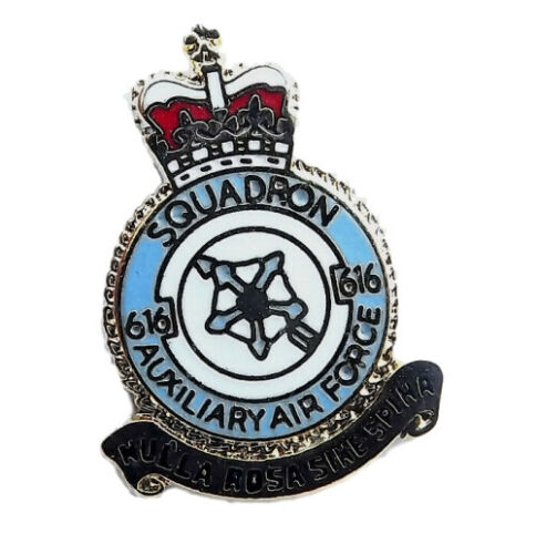 Auxiliary Air Force Squadron 616 Military Enamel Lapel Badge
