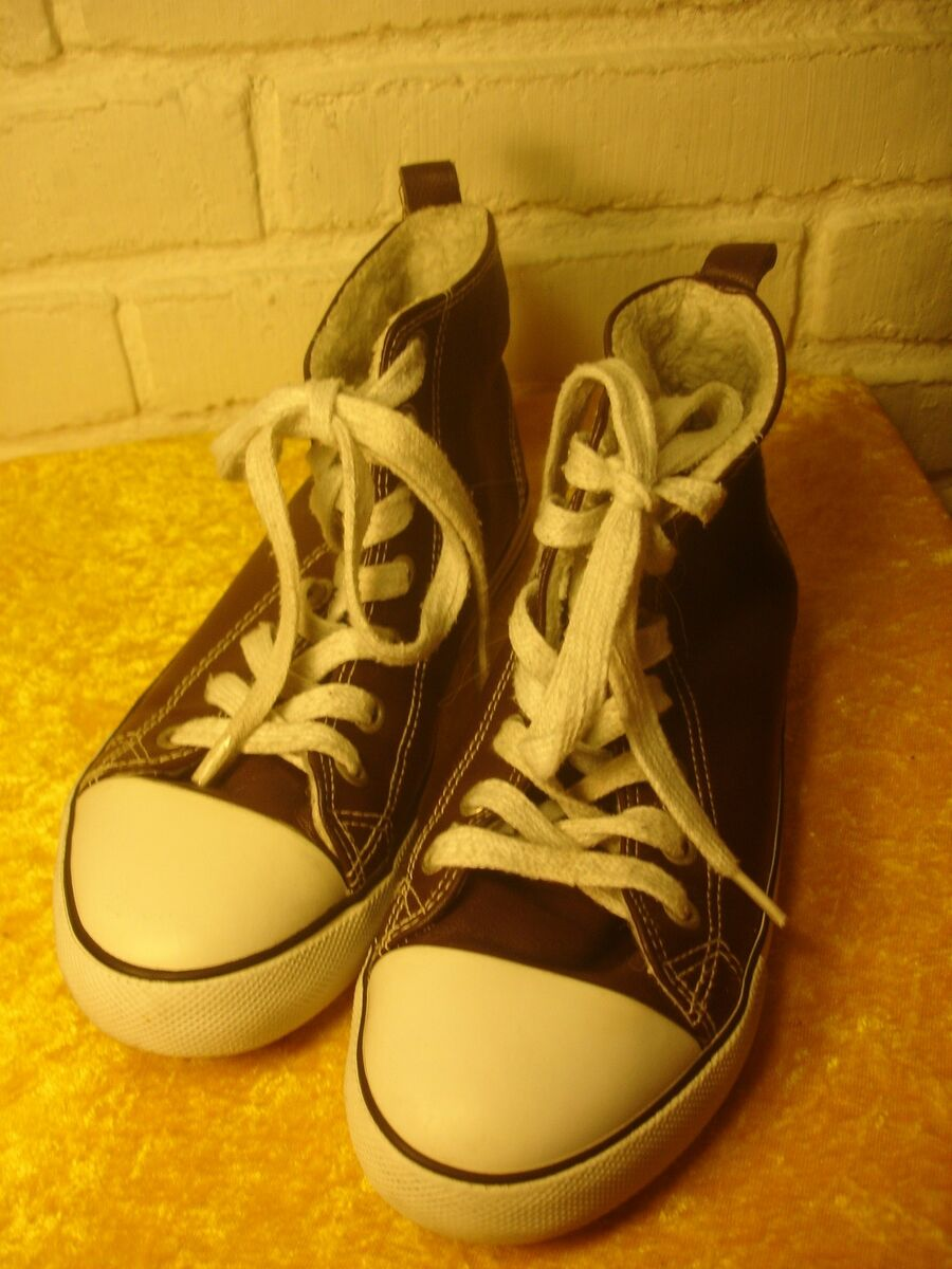 Sneakers, str. 34, H&M prod. made in China, brun hvid