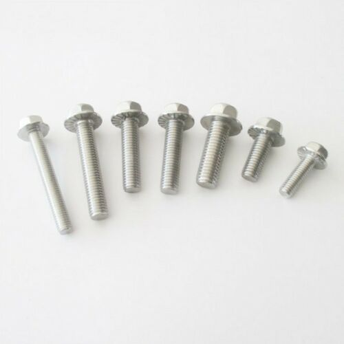304 Stainless Steel Select Size M4 M5 M6 M8 Hex Head Flange Bolts Cap Screws