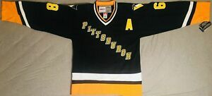 1992 Jaromir Jagr Pittsburgh Penguins Alternate Black Jersey Size Men's Medium