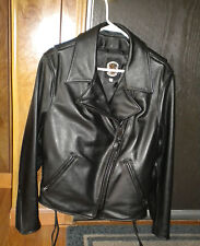 Just Leather Brand Leather Police Motorcycle/ Patrol Women's jacket Size 14