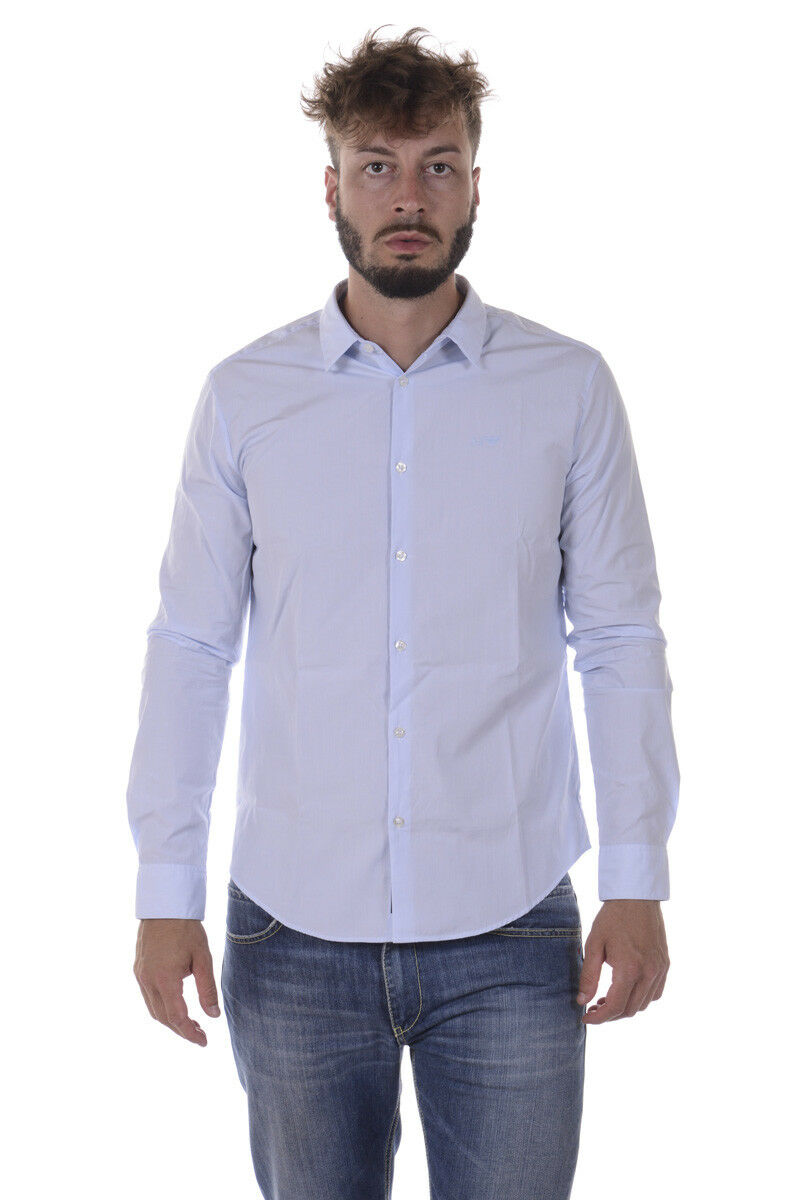 Camicia Armani Jeans AJ Shirt SLIM FIT Cotone Uomo Uomo Uomo Azzurro 8N6C096N04Z N 510 de6f9c