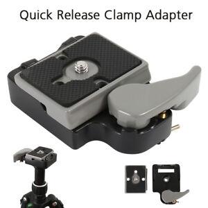 Quick-Release-SLR-DSLR-Camera-Lens-Tripod-Clamp-Plate-Adapter-Mount-Screw-Set