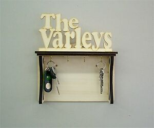 Special personalised wooden key holder letter rack key hooks key rack gift ebay - Wooden letter and key holder ...